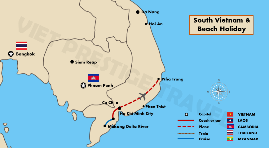 South Vietnam and Beach Holiday| Vietnam Package Holiday