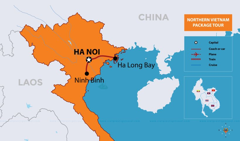 Northern Vietnam Map.Northern Vietnam Package Tour Vietnam Tours For Indians 5 Days